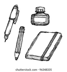 scribble series - stationeries
