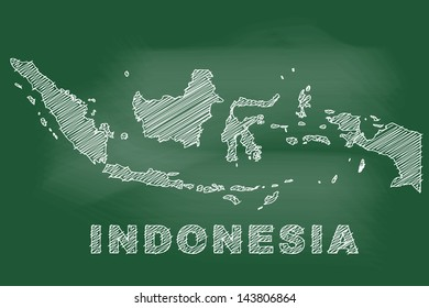 scribble sketch indonesia map on 260nw 143806864