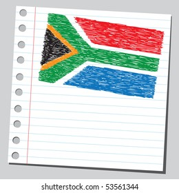 Scribble South Africa flag