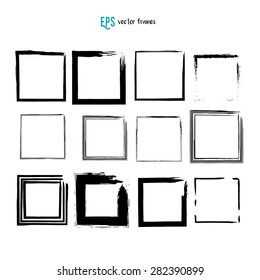 Scribble square vector illustration set