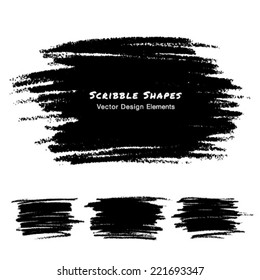 Scribble Stains Hand drawn in Pencil, vector logo design elements