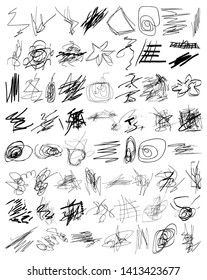 Scribble Vector Graphic Pack 03