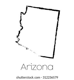 A Scribbled shape of the State of Arizona