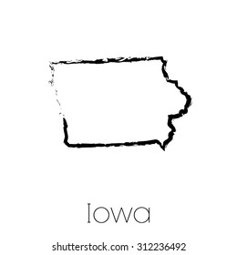 A Scribbled shape of the State of Iowa