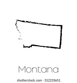 A Scribbled shape of the State of Montana