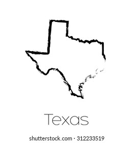 A Scribbled shape of the State of Texas