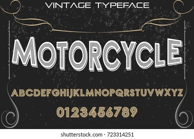 script handcrafted vector calligraphy font typeface,vector,labels,illustration,letters,grunge,graphics,banners,vintage in design with decoration named motorcycle