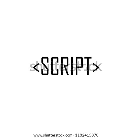 Script Icon Element Online Web Mobile Stock Vector (Royalty Free