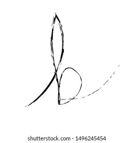 Script Letter B Logo Initial Font