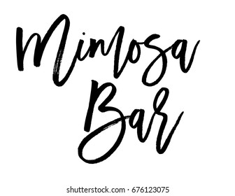 Script text wedding sign for mimosa bar