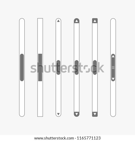 Scroll Bar Vector Vertical Down Scroll Stock Vector Royalty Free
