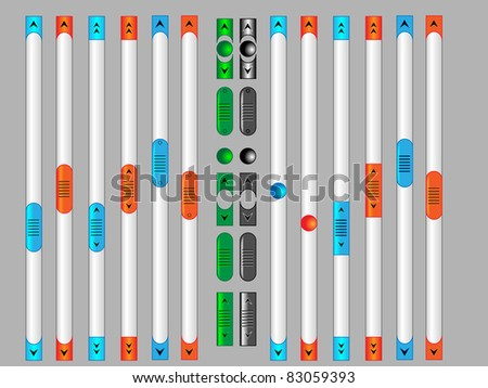 Scroll Bar Vector Stock Vector Royalty Free 83059393 Shutterstock