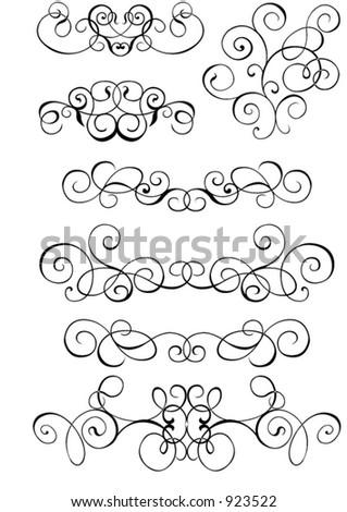 scroll cartouche decor vector illustration stock vector royalty