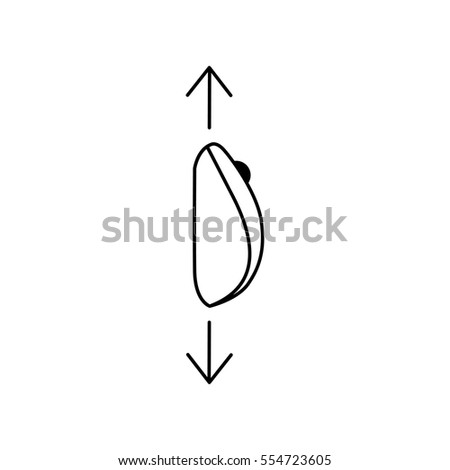 scroll down computer mouse icon vector stock vector royalty free