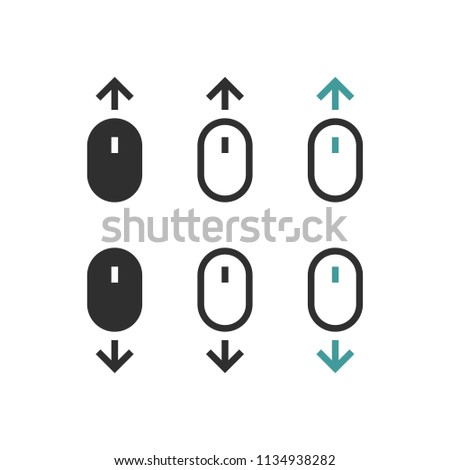 scroll down icons stock vector royalty free 1134938282 shutterstock