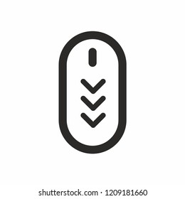 Scroll down up. Computer mouse icon. vector