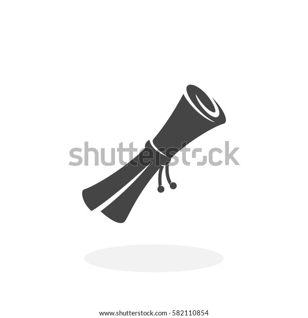 Scroll icon isolated on white background. Scroll vector logo. Flat design style. Modern vector pictogram for web graphics - stock vector