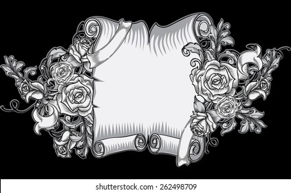 Tattoo Scroll Images Stock Photos Vectors Shutterstock
