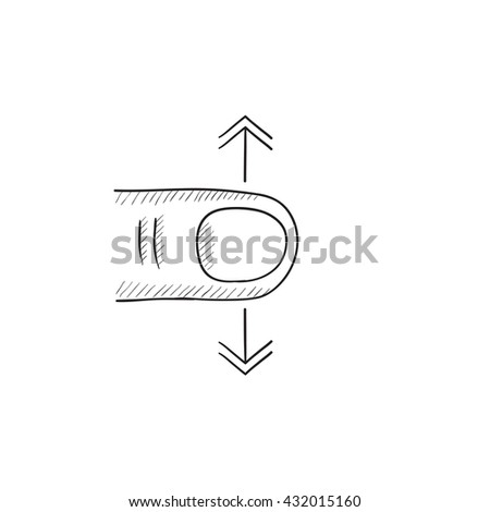 scroll touch screen gesture vector sketch stock vector royalty free