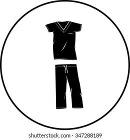 scrubs medical clothing symbol