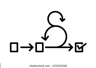 Scrum icon, Agile icon, vector