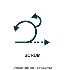 Scrum vector icon illustration. Creative sign from agile icons collection. Filled flat Scrum icon for computer and mobile. Symbol, logo vector graphics.