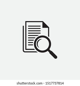 Scrutiny document plan icon in flat style. Vector illustration on white background.