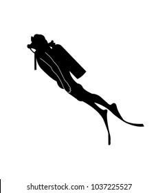 Scuba diver silhouette