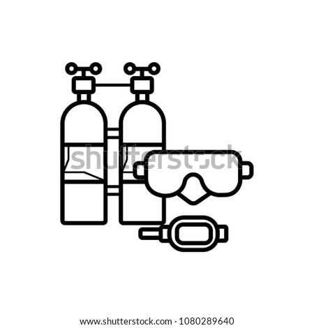 Scuba Diving Icon Design Template Vector Illustration