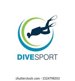 Scuba Diving Logo Design Vector Template