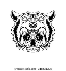 Scull and Wolf