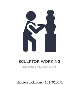 sculptor working icon on white background. Simple element illustration from People concept. sculptor working icon symbol design.