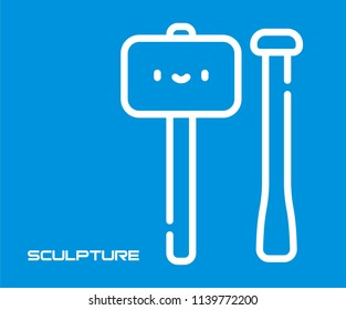 SCULPTURE TOOL VECTOR ICON