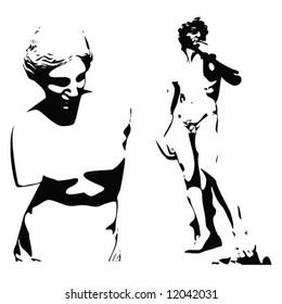 david sculpture vector Stock Illustrations, Images & Vectors