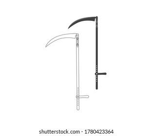 Scythe Vector. Simple illustration of scythe vector icon.