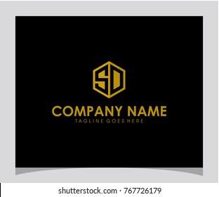 SD initial letter logo design