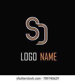 SD Letter Logo Design .