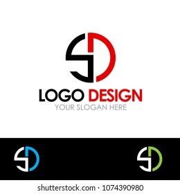 SD Letter Logo Design Template Vector EPS