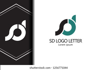 sd s d circle lowercase design of alphabet letter combination with infinity suitable as a logo for a company or business - Vector