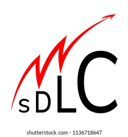 SDLC - System Development Life Cycle. Lifecycle vector icon.