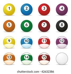 se of billard balls in vector mode