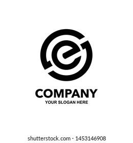 SE or ES initial logo template vector illustration