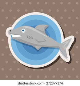sea animal shark cartoon theme elements