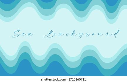 sea blue paper cut background design