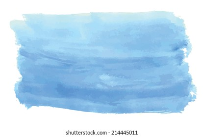 Sea blue watercolor for scrapbooking design. Vector illustration.