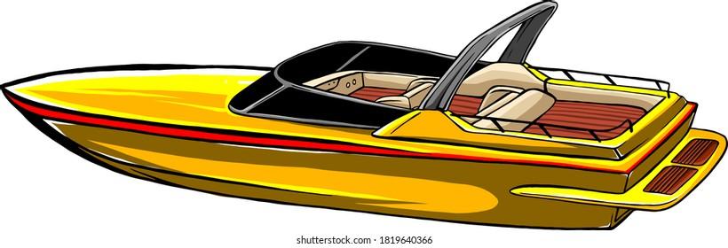 sea boat Icon Vector Illustration graphics art