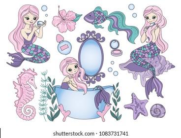 Mermaid Clipart Images Stock Photos Vectors Shutterstock