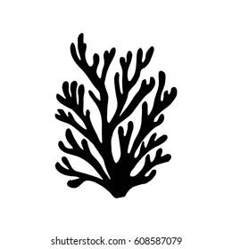 Sea corals silhouette