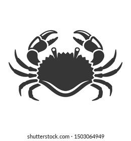 Sea Crab Icon on White Background. Vector