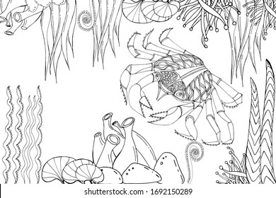 Ocean Coloring Pages Images Stock Photos Vectors Shutterstock